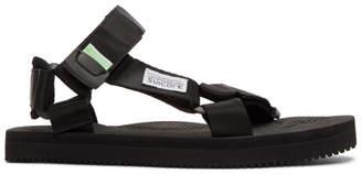 Suicoke Black Depa-C Sandals
