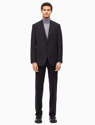 Calvin Klein big + tall solid black suit