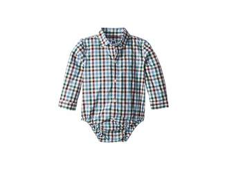 Janie and Jack Long Sleeve Button Up Bodysuit (Infant)