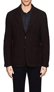 Barena Venezia VENEZIA MEN'S WOOL-BLEND JACQUARD TWO-BUTTON JACKET-GRAY SIZE 52 EU