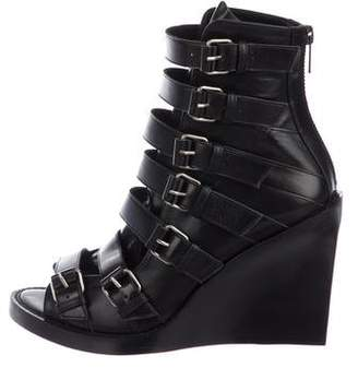 Ann Demeulemeester Multistrap Wedge Boots
