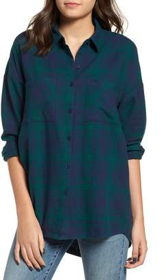 BP Plaid Flannel Cocoon Shirt