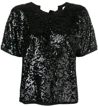 Semi-Couture Semicouture sequin tee