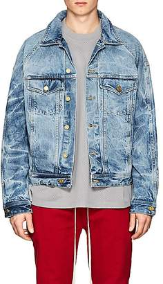 Fear Of God Men's Acid-Washed Denim Jacket - Lt. Blue