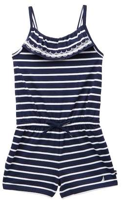Nautica Striped Romper (Little Girls)