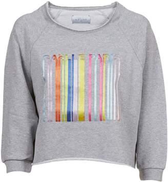 Gaelle Bonheur Three-quarter Sleeve Logo Sweatshirt