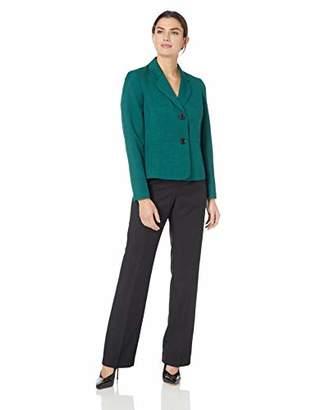 Le Suit Women's 2 Button Notch Collar Melange Pant