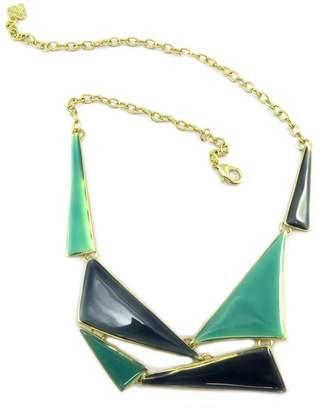 Dolce Vita Necklace creator 'Nora' gilded green.