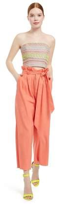 Alice + Olivia Farrel Paperbag Pleated Pant