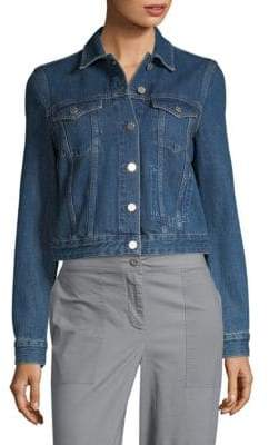French Connection Micro Western Denim Crop Jacket