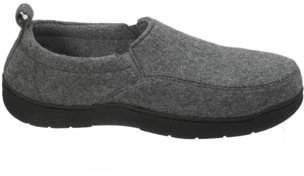 Dearfoams Men's Genuine Wool Jungle Moc Closed Back Slippers