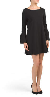 Made In Italy Long Bell Sleeve Dress