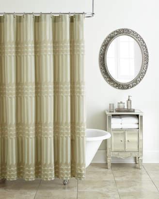 Waterford Cream Diamond Shower Curtain