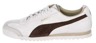 Puma Patent Leather Low-Top Sneakers