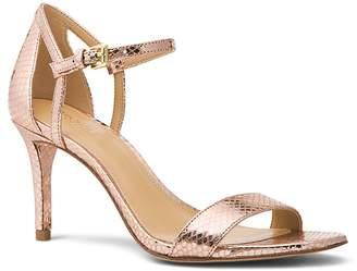 MICHAEL Michael Kors Women's Simone Leather Mid Heel Sandals