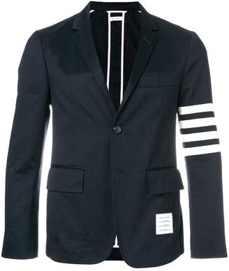 Thom Browne Classic Unconstructed 4-Bar Stripe Sport Coat