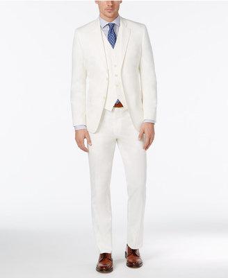 Lauren Ralph Lauren Men's Slim-Fit White Solid Vested Suit $595 thestylecure.com