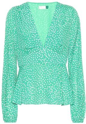 Rixo Kikki micro floral blouse