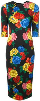 Alice + Olivia Alice+Olivia floral print fitted dress