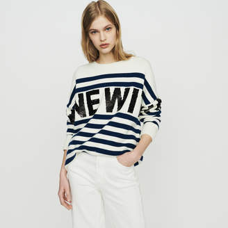 Maje Sailor striped sweater in wool blend