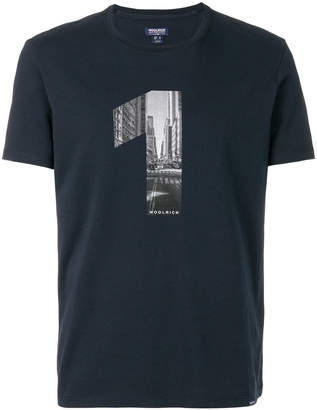Woolrich slim fit chest print T-shirt