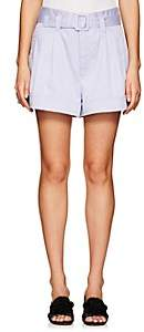 Marc Jacobs Women's Belted Stretch-Cotton Shorts - Purple