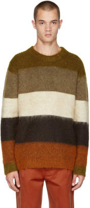 Acne Studios Orange and Brown Mohair Albah Sweater