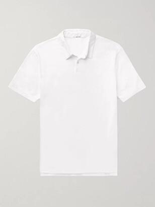 James Perse Supima Cotton-Jersey Polo Shirt - Men - White