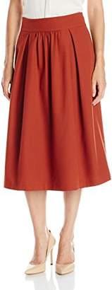Lark & Ro Women's Midi Flare Skirt