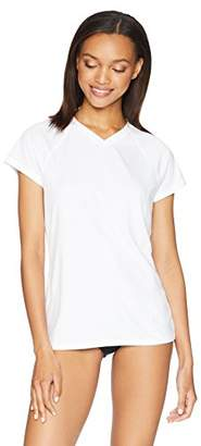 Amazon Essentials Women's Standard Short-Sleeve Quick-Dry UPF50 Swim Tee