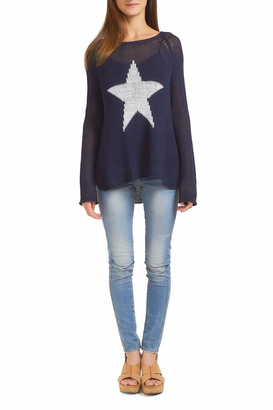 Wooden Ships Star Crew Sweater $135 thestylecure.com