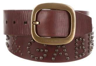 Dolce & Gabbana Studded Leather Logo Belt