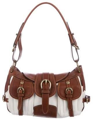 Ghurka Leather-Trimmed Pocket Hobo