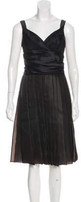 Celine Plissé Silk Dress w/ Tags Black Plissé Silk Dress w/ Tags
