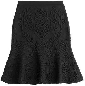 Alexander McQueen Fluted Skirt with Wool