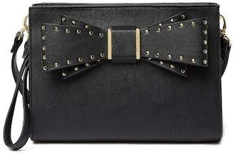 Betsey Johnson Studded Bow Crossbody Bag