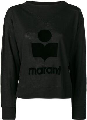 Etoile Isabel Marant tone on tone logo jumper