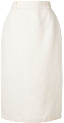 Versace (ヴェルサーチ) - Versace Pre-Owned リネンペンシルスカート