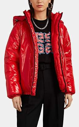 Givenchy Women's Vinyl-Effect Tech-Taffeta Puffer Coat - Red