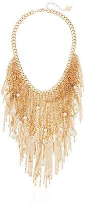 GUESS Fringe Beads Chain Necklace