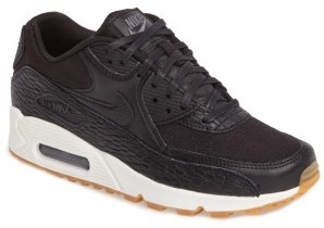 Women's Nike Air Max 90 Premium Leather Sneaker $130 thestylecure.com