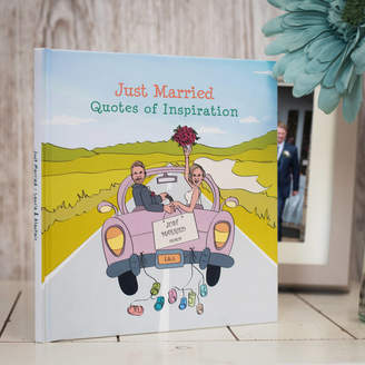 Swanky Portraits Personalised Mr And Mrs 'Just Married' Book