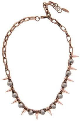 Joomi Lim Dynamic Duo Long Sphere and Spike Necklace