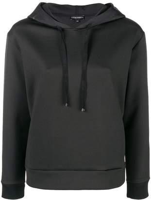 Emporio Armani sequin logo hoodie
