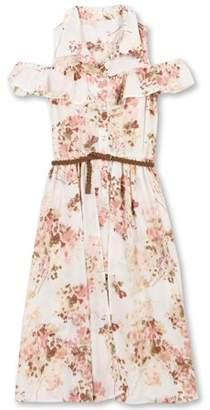 Speechless Lots Of Love By Girls' 7-16 Floral Walk-Thru Romper Shirt Dress