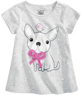 First Impressions Toddler Girls Dog-Print Cotton T-Shirt, Created for Macy's