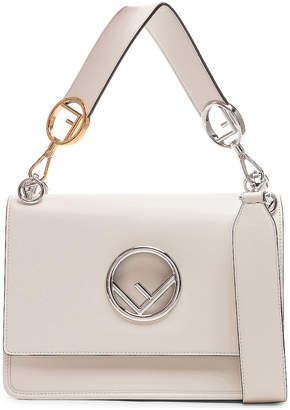 Fendi Logo Flap Bag in Grey | FWRD