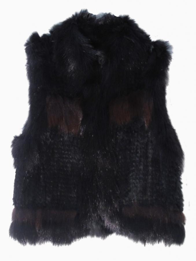 Elizabeth and James Elizabeth Solid Fur Vest