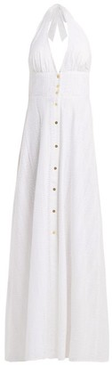 Heidi Klein Palermo Halterneck Cotton Dress - Womens - White
