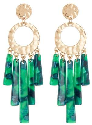 Black Diamond ACCESSORIES Acetate Bar Drop Earrings